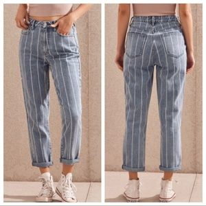 PacSun Mom Jeans Striped High Rise Crop